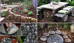 Fifteen incredible DIY Garden Redecorating Ideas by using Rocks