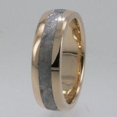 Meteorite Rings / 14K Gold Meteorite Ring