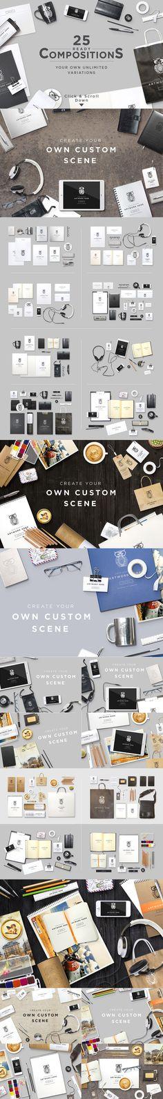 Header Stationery Scene Generator by itembridge creative store on Creative Market