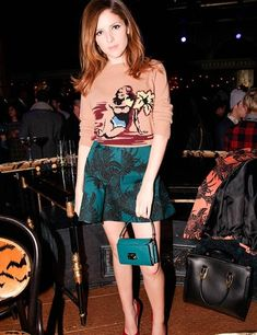 Anna Kendrick wearing Miu Miu at Miu Miu's Tales, Sparkle and Light during Mercedes-Benz Fashion Week, New York.