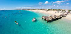 Aerial view of Santa Maria beach in Sal Cape Verde - Cabo Verde - Stock P , Santa Maria Cape Verde, Santa Maria Beach, Cape Verde Holidays, Cape Verde Sal, Resorts, Italy Tour Packages, Places To Travel, Places To Go, Tourist Places