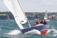 The International Folkboat 'Rosaire' racing during Aberdeen Asset Management Cowes Week  #sailboats #boats #sailing