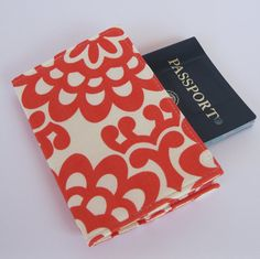 Awesome idea! Passport Cover Case  Cherry Red Wall Flower by BaffinBags on Etsy, $8.00
