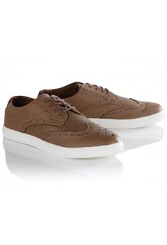 Tan brogue style lace up trainers, Tan Brogues, Lace Up Trainers, Latest Trends, Footwear, Sneakers, Men, Clothes, Shoes, Summer