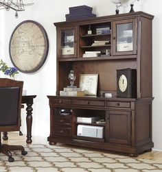 porter tall hutch h697 49 desks from ashley at office storage furniture home