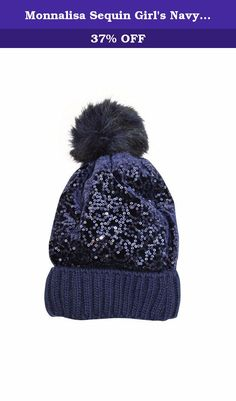 Monnalisa Sequin Girl's Navy Hat with Fur Pom Pom. Monnalisa SO STYLISH...SO CHIC...SO BEAUTIFUL... Monnalisa's European edge is hip and unique with an eye for details. With its glitter and glam and coordinating accessories from head to toe fashion, the Monnalisa style has become a very special one; it has created almost a cult following for children of all ages. The company is in the top range of the market. Monnalisa childrenswear has a distinct sense of high-fashion combined with a…