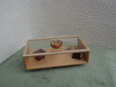 Modern Miniature  Coffee  Table  in maple 1:12 scale. $22.00, via Etsy.