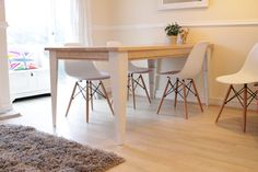 Contemporary Industrial Steel and Oak Dining Table £650.00