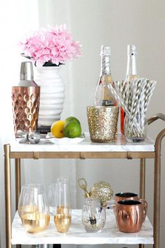 """Check out our web site for even more info on """"bar cart decor ideas"""". It is an excellent area to learn more. Diy Bar Cart, Gold Bar Cart, Bar Cart Decor, Bar Carts, Bar Furniture For Sale, Furniture Ideas, Modern Furniture, Plywood Furniture, Furniture Design"""