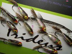 Irideus Hand Painted Minnow Alevin Baitfish Trout Collection Fly Fishing Flies #Irideus