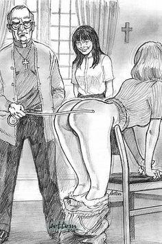 Girl butt spanked