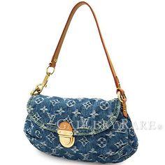 Auth-Louis-Vuitton-Monogram-Handbag-Denim-Mini-Pleaty-M95050-Spain-GR-1861266