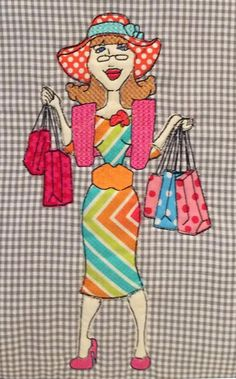 Let's go shopping bag 5x7 6x10 8x12 in the hoop machine embroidery design