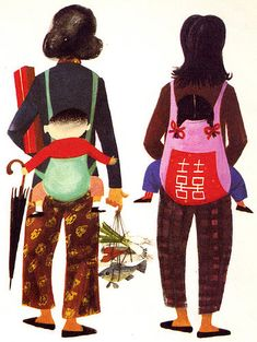 """This Is Hong Kong / Image from another book in the """"This Is."""" series written and illustrated by the inimitable Miroslav Sasek, Children's Book Illustration, Character Illustration, Christmas Drawing, Children's Picture Books, Illustrations And Posters, Mother And Child, Disney Art, Vintage Children, Childrens Books"""