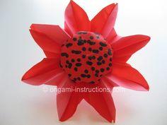 Origami Flowers Folding Instructions - Origami Daisy, Part 2