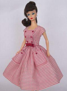 Cheeky Control-Vintage Muñeca Barbie Vestido reproducción Repro Barbie Ropa