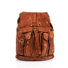 Campomaggi C06005 Leather Backpack, Cognac - Fendrihan