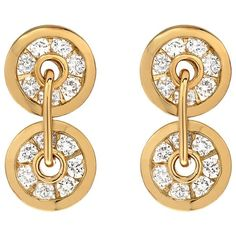 Retrouvaí Diamond Button Earrings ($3,520) ❤ liked on Polyvore featuring jewelry, earrings, gold, earring jewelry, drop earrings, 14 karat gold jewelry, handcrafted jewellery and 14k jewelry