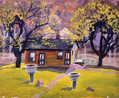House in Landscape by Charles Ephraim Burchfield 1919