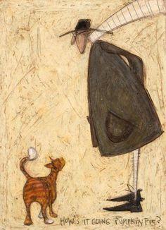 Sam toft a cat called pumpkin pie greeting card sam toft sam toft m4hsunfo