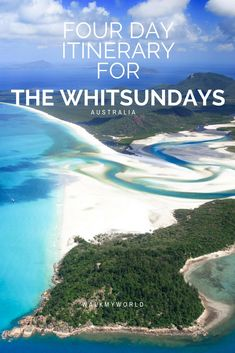 The Whitsundays is as close to paradise as you can get: white sand beaches, beautiful reefs and islands where the only form of transport is golf buggy. Here's a 4 day itinerary for the Whitsundays, one of the most beautiful places in the world. Perth, Brisbane, Melbourne, Sydney, Tasmania Australia, Visit Australia, Western Australia, Australia Honeymoon, Australia Tours