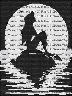 Hey, I found this really awesome Etsy listing at https://www.etsy.com/listing/225128690/little-mermaid-silhouette-graphgan