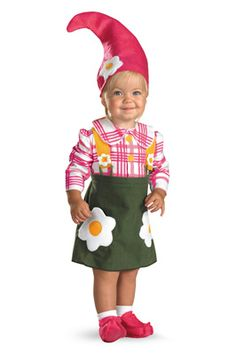 Flower Garden Gnome Toddler Costume
