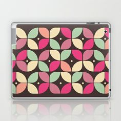 Funky Flower Garden Pattern Laptop & iPad Skin by VessDSign - $25.00