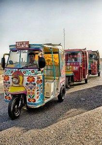 rickshaws Pakistan truck art