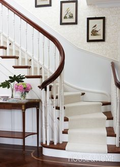 Traditional Stairway | Designer: Sarah Richardson, Tommy Smythe & Kate Stuart | Photographer: Stacey Brandford | #sarahrichardson #tommysmythe #staircase #hallway #interiordesign