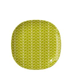 Orla Kiely: Side plate with Linear Stem print. Perfect for sunny days in the garden or picnics further afield! Dishwasher safe.
