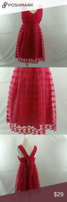 Blue Rain Hot Pink Dress Sz Medium NWT A Blue Rain dress in hot pink. It is a size medium and new with tags. It zips up the back. Blue Rain Dresses Mini