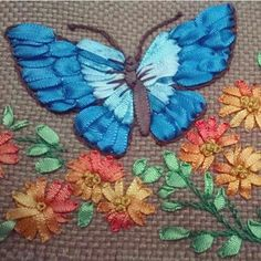 Wonderful Ribbon Embroidery Flowers by Hand Ideas. Enchanting Ribbon Embroidery Flowers by Hand Ideas. Embroidery Designs, Ribbon Embroidery Tutorial, Silk Ribbon Embroidery, Embroidery Kits, Embroidery Stitches, Hand Embroidery Videos, Hand Embroidery Patterns, Embroidery Techniques, Butterfly Quilt