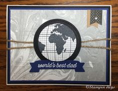 Stampin days; Going Global, Large Numbers Framelits Dies, World Traveler Textured Impressions Embossing Folder, Going Places Designer Series Paper Stack, Stampin' UP!