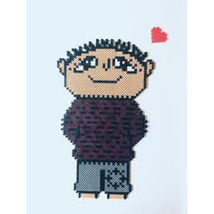 Alfons Åberg/ Willi Wiberg/ Alfie Atkins hama beads by Cille Fuse Bead Patterns, Beading Patterns, Cross Stitch Patterns, Hama Art, Pearl Beads Pattern, Peler Beads, Melting Beads, Beaded Cross Stitch, Fuse Beads