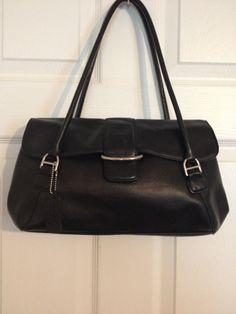 Classic Style Black Leather Vintage Worthington by touchofclass123