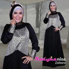 model baju pesta Pusat-Gamis-Terbaru-Zafeera-By-Nasywanisa-Hitam
