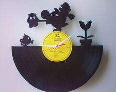 Mario and Yoshi Vinyl Record Clock