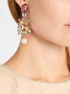 Embellished earrings Oscar De La Renta FZx3lD