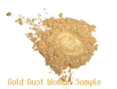 SAMPLE Gold Dust Woman Loose Powder Mineral Eye by MadeByMandikins, $1.25