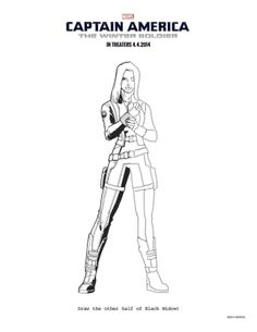 #14 CAPTAIN AMERICA: THE WINTER SOLDIER Coloring Sheets To Keep Everyone  Occupied Until April