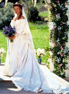 Michaela Quinn on her wedding day.