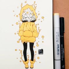 how to draw sketches Kawaii Drawings, Art Drawings Sketches, Cute Drawings, Sketch Art, Cute Art Styles, Cartoon Art Styles, Manga Art, Anime Art, Arte Copic