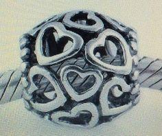 """New"" Pandora Open Your Heart 925 Charm 790964 - http://elegant.designerjewelrygalleria.com/pandora/new-pandora-open-your-heart-925-charm-790964/"