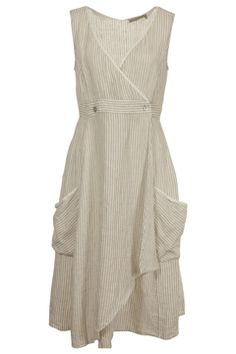 Hammock & Vine Stripe Linen Wrap Dress