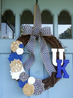 University of Kentucky Grapevine Wreath