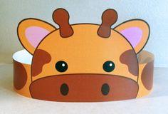 Giraffe Paper Crown Printable by PutACrownOnIt on Etsy