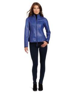 91dc953d Kenneth Cole Women's Petite Lambskin Jacket Lambskin Leather Jacket,  Leather Jackets, Tommy Hilfiger Women