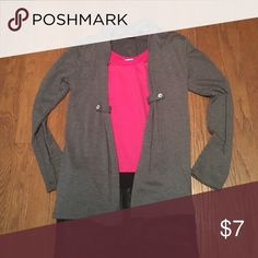 Girls blazer Perfect for fall layering! Grey cotton jacket goes over anything! Faux glass button accents with a slight gather in the front makes it lay smoothly. Jackets & Coats Blazers