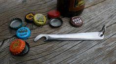 Upcycled Stainless Steel Knife Bottle Opener by JaredKramerStudios
